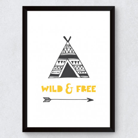 Quadro Decorativo Infantil Wild And Free