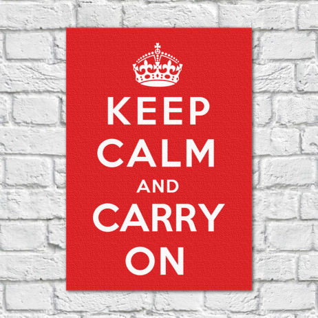 Quadro Decorativo Keep Calm and Carry on