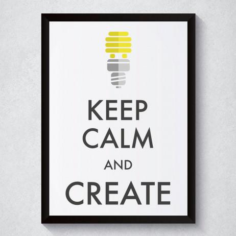 Quadro Decorativo Keep Calm And Create
