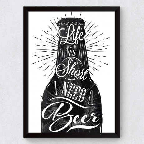 Quadro Decorativo I Need a Beer