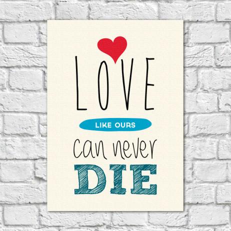 Quadro Decorativo Love Like Ours... - Em Canvas