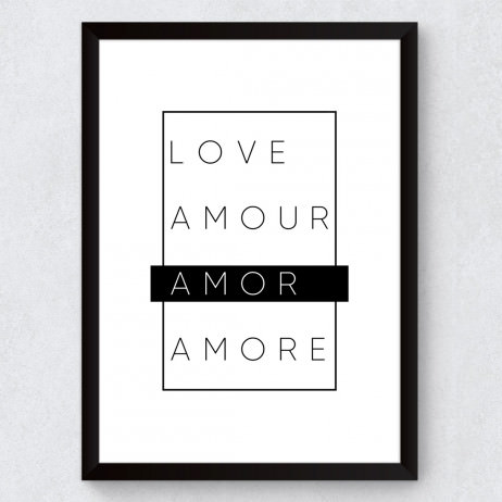 Quadro Decorativo Minimalista Amor