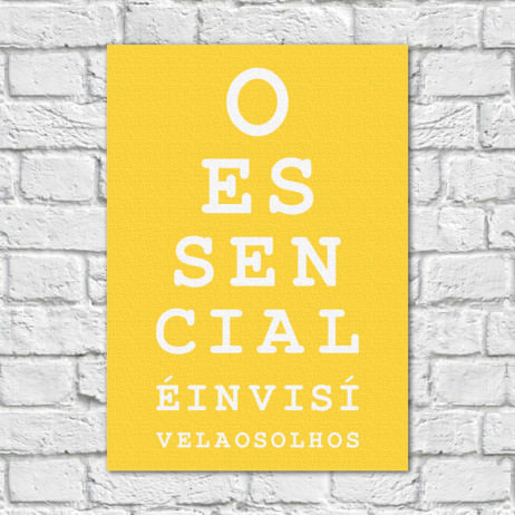Quadro Decorativo O Essencial