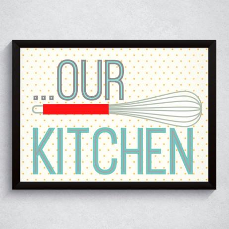 """Quadro Decorativo """"Our Kitchen"""""""