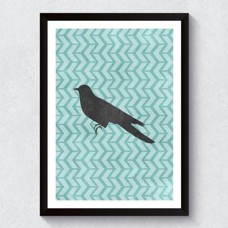 Quadro Decorativo Pássaro