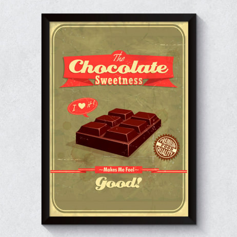 Quadro Decorativo Chocolate