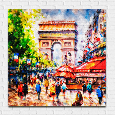 Quadro Decorativo Paris Arco do Triunfo - Em Canvas