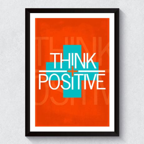 Quadro Decorativo Think Positive