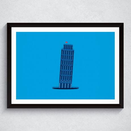 Quadro Decorativo Torre de Pisa