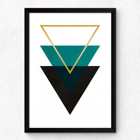 Quadro Decorativo Abstrato Triângulos
