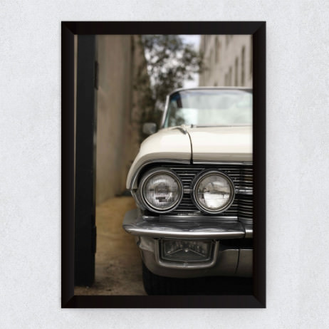 Quadro Decorativo Vintage Cadillac Deville 1962