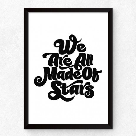 Quadro Decorativo We Are All Made Of Stars