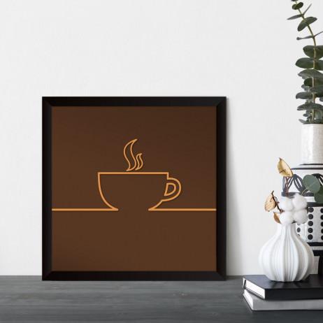 Quadrinho Decorativo Minimalista Xícara de Café