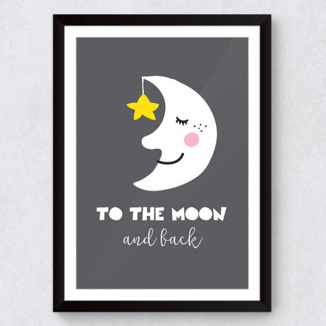 Quadro Decorativo Infantil To The Moon And Back