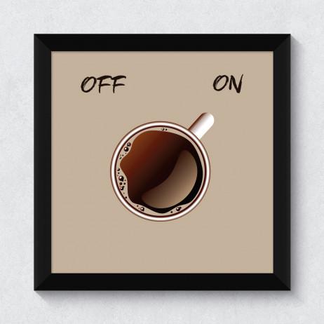 Quadrinho Decorativo Café On Off