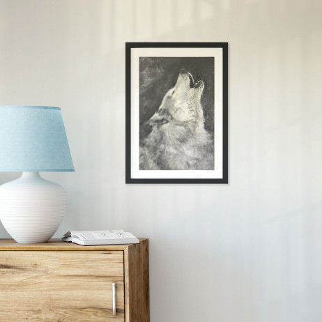 Quadro Decorativo Lobo