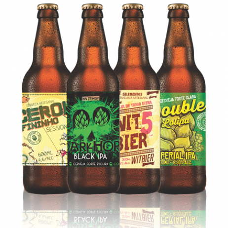 100 Rótulos de Cerveja Artesanal - Acabamento Fosco (13x9cm)