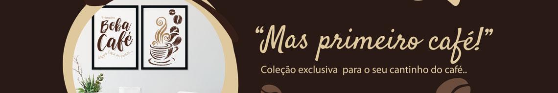 Coleção De Quadros Decorativos - Tema Café