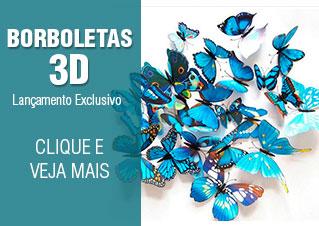 Borboletas 3D