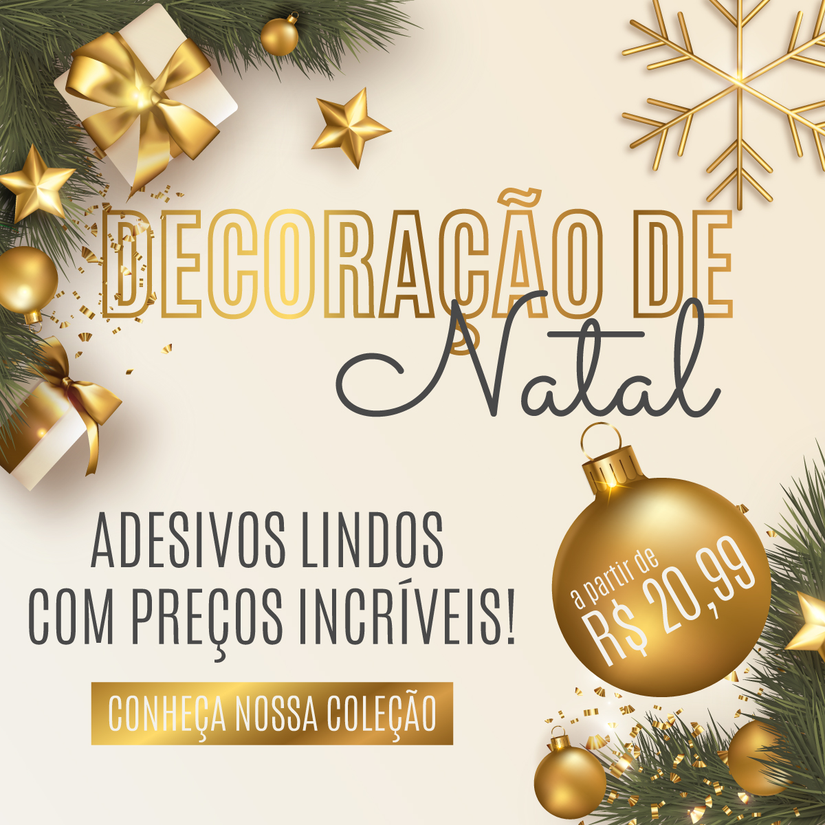 Decoração de Natal   Coleção Adesivos de Natal