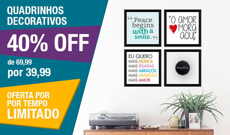 Quadrinhos Decorativos com 40% OFF
