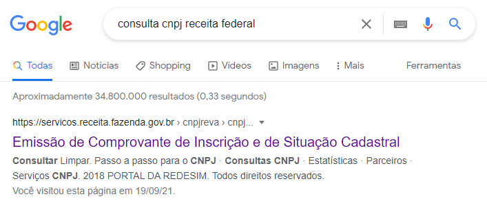 Consulta Google
