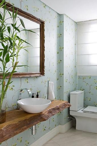 Papel de Parede Adesivo Para Banheiro